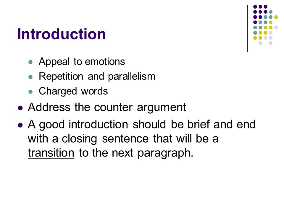 counter argument transition words