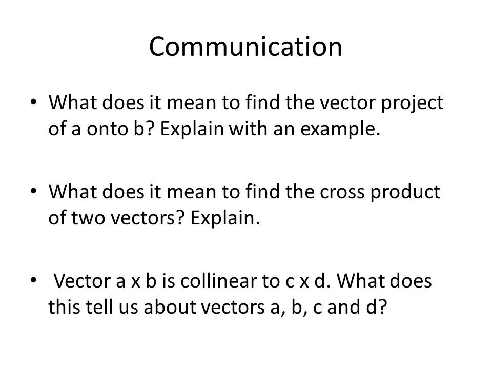 chapter 7 review communication what does it mean to find the vector