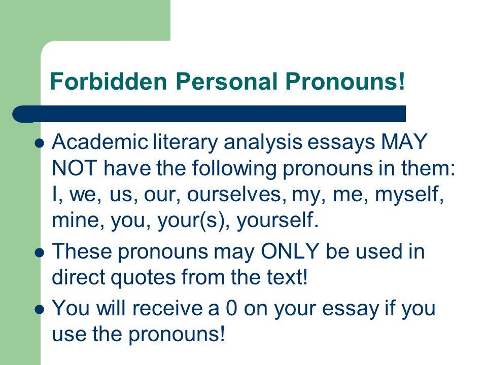 Common Essay Errors Flood Essays Individual Forbidden Personal   Forbidden Personal Pronouns