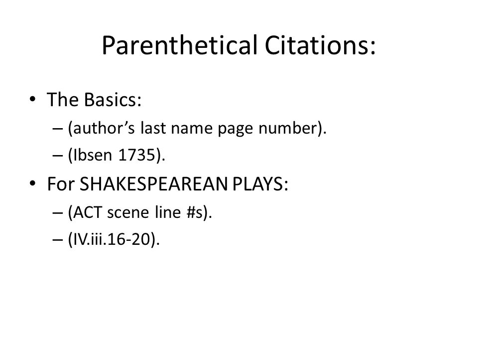 mla citation for a play