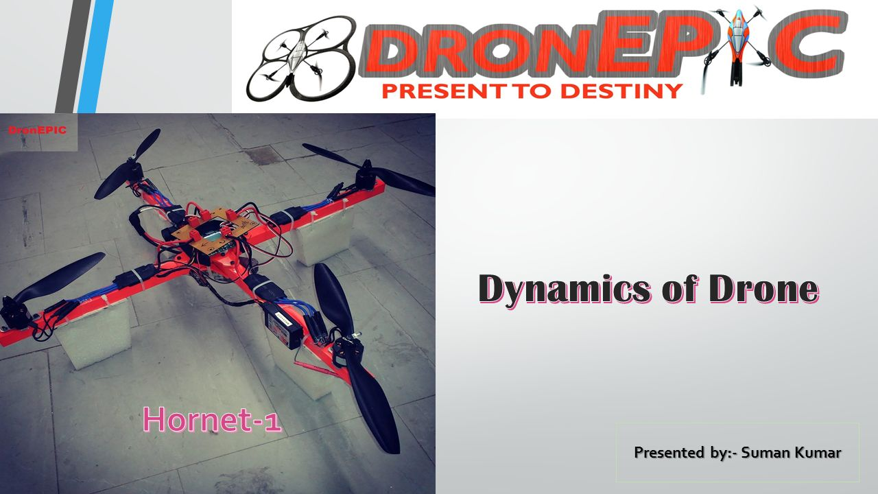 Presented by:- Suman Kumar  INTRODUCTION : Quad-rotor helicopters