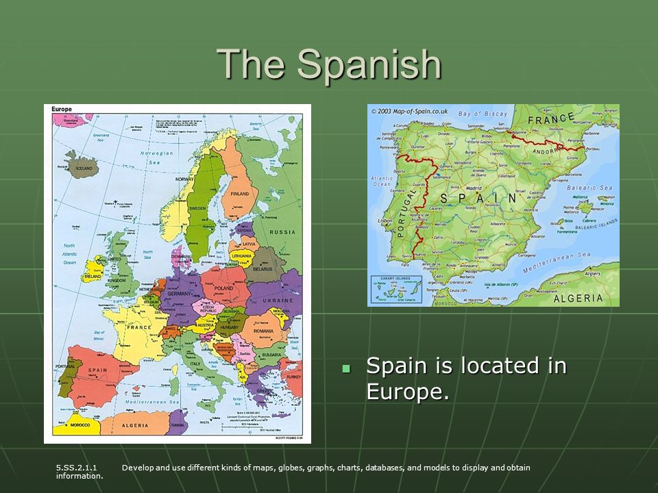 Spanish exploration the seven continents during our studies of the spanish spain is located in europe spain is located in europe gumiabroncs Choice Image