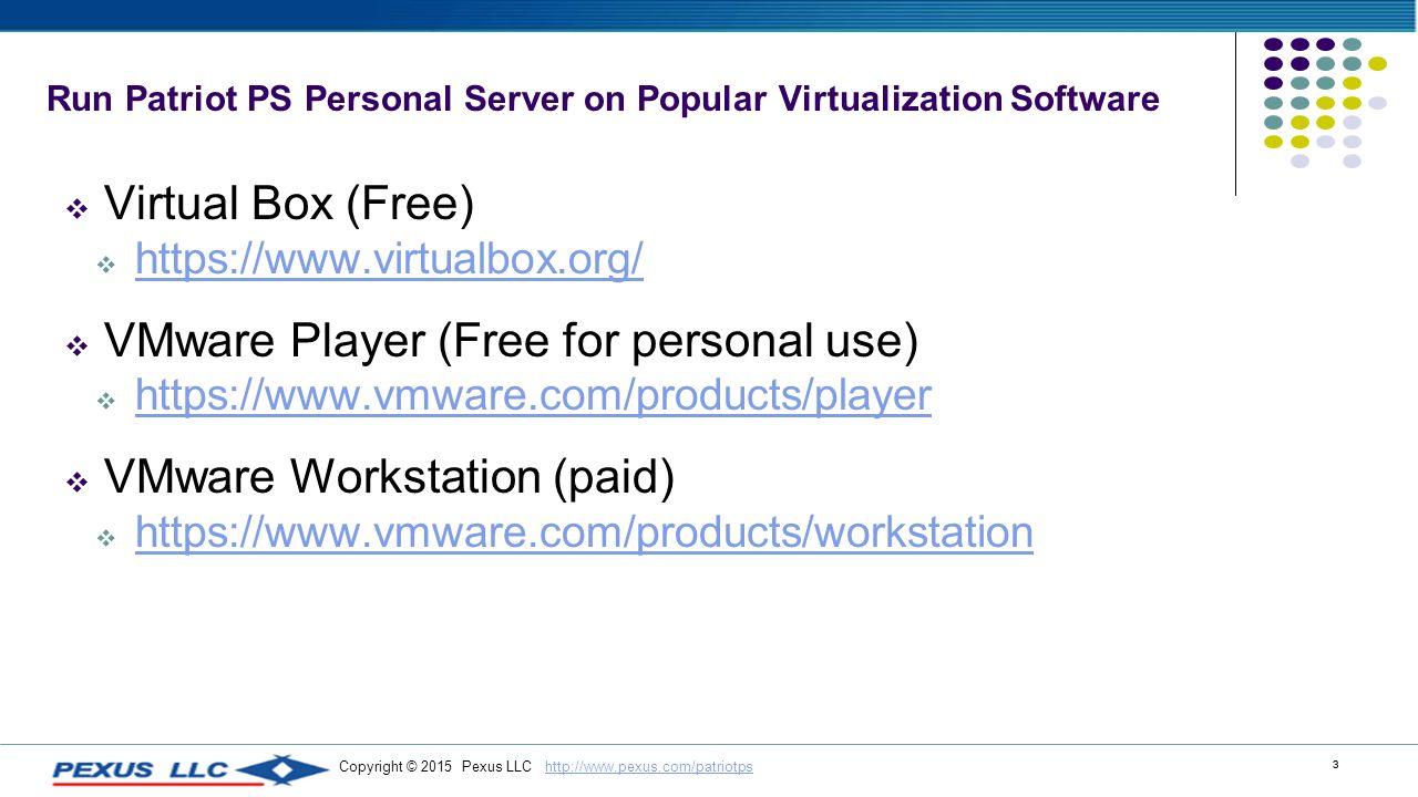 vmware personal use