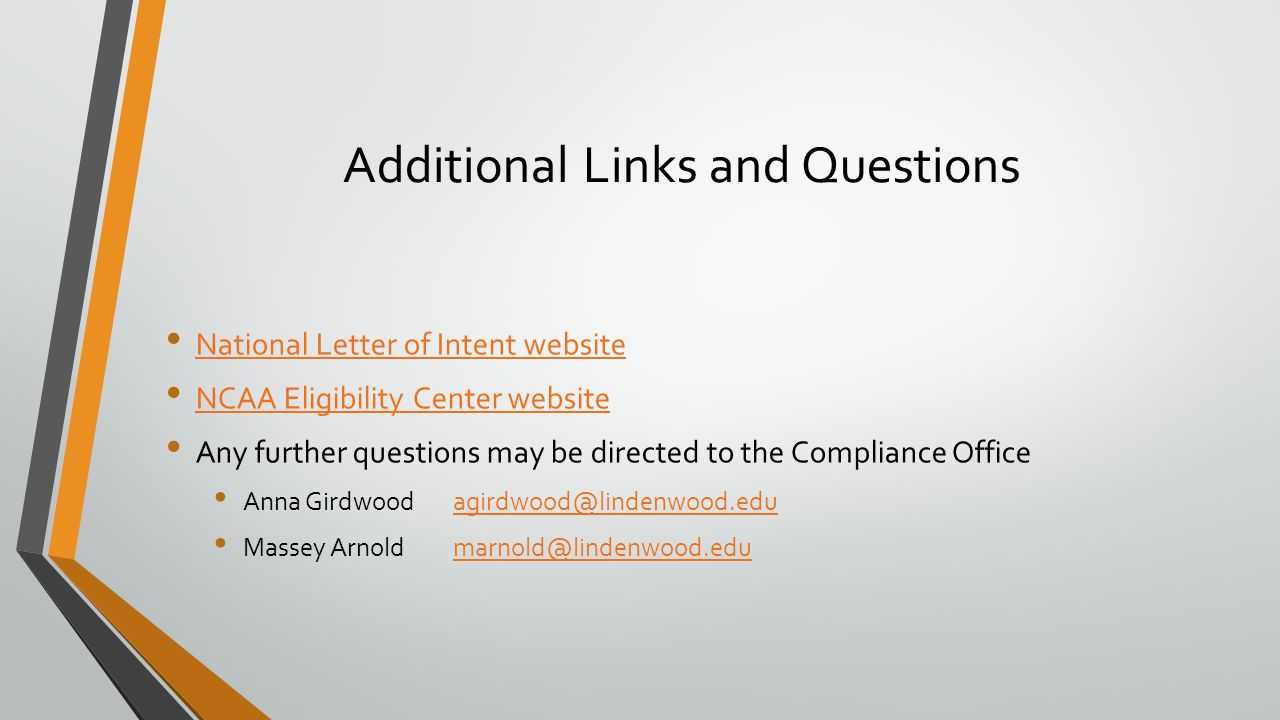 National Letter of Intent & Initial Eligibility October 2015 Rules