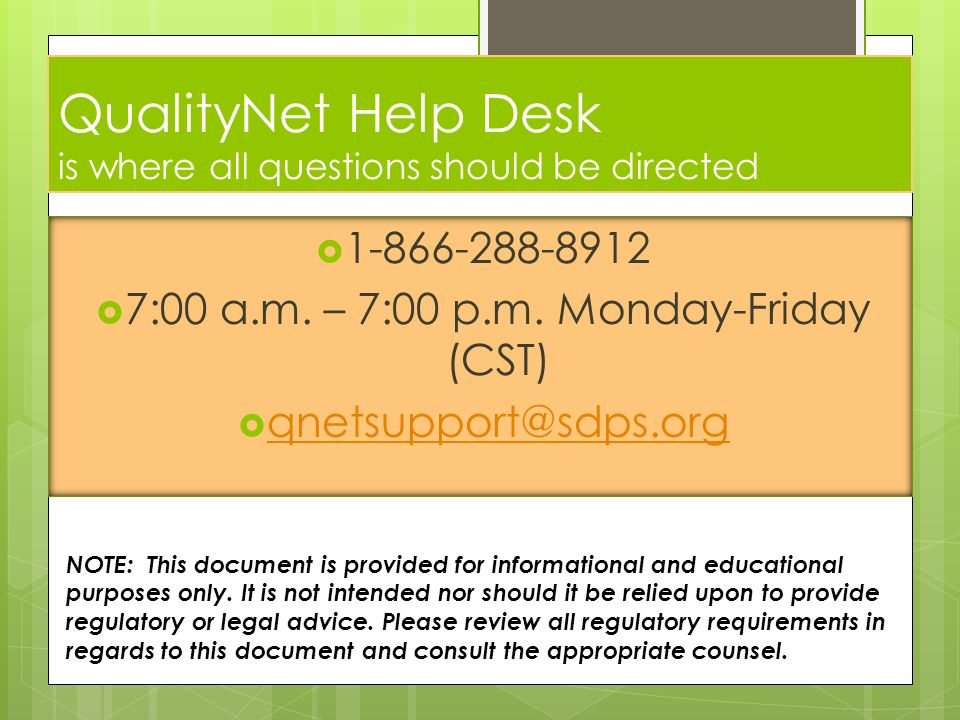 Lovely 13 QualityNet Help Desk ... Great Pictures
