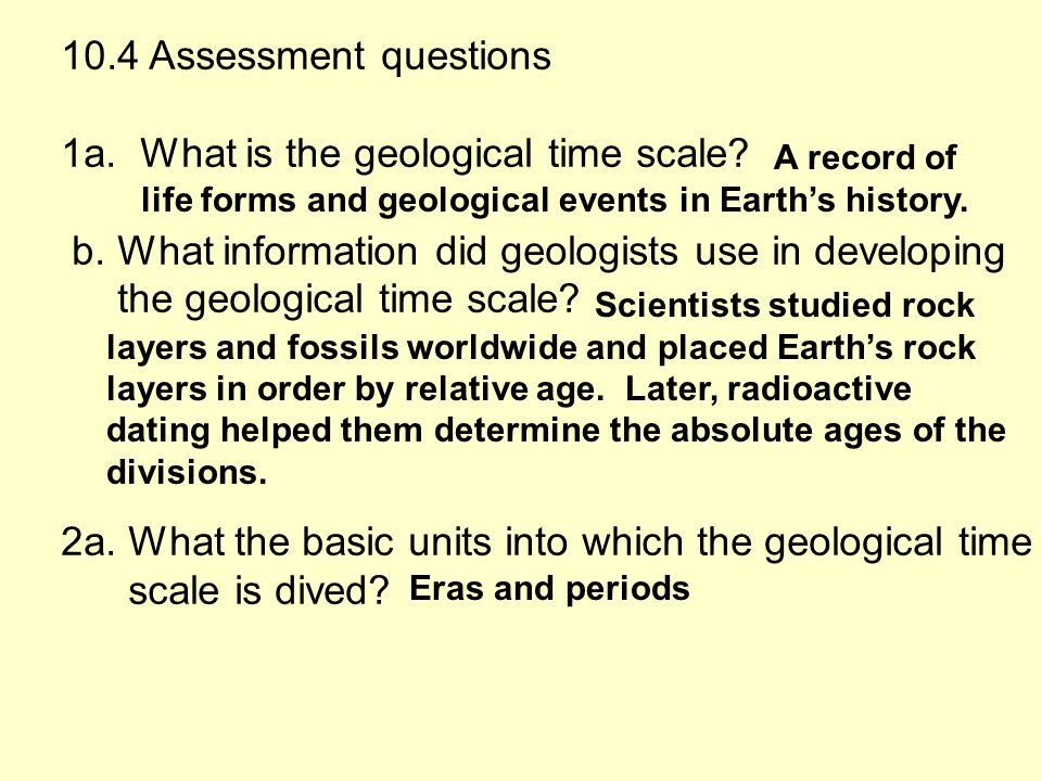 Key Concepts Why Is The Geological Time Scale Used To Show Earths