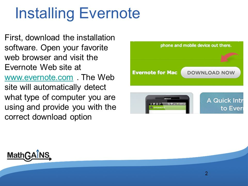1 Double Click to Edit  Installing Evernote 22 First, download the