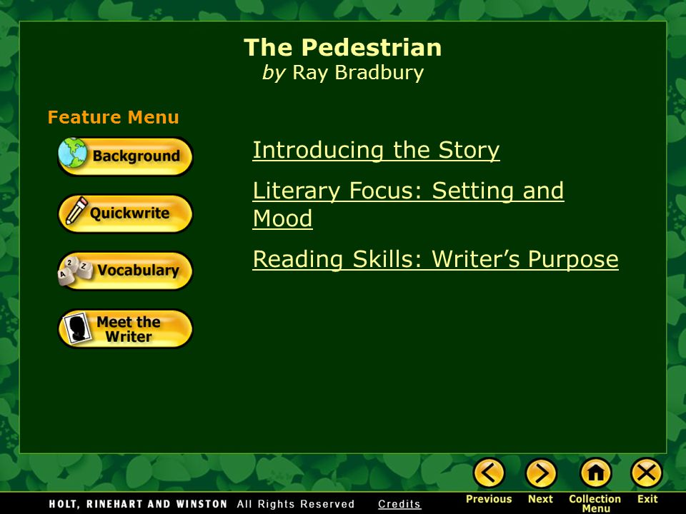 Introducing The Story Literary Focus Setting And Mood Reading