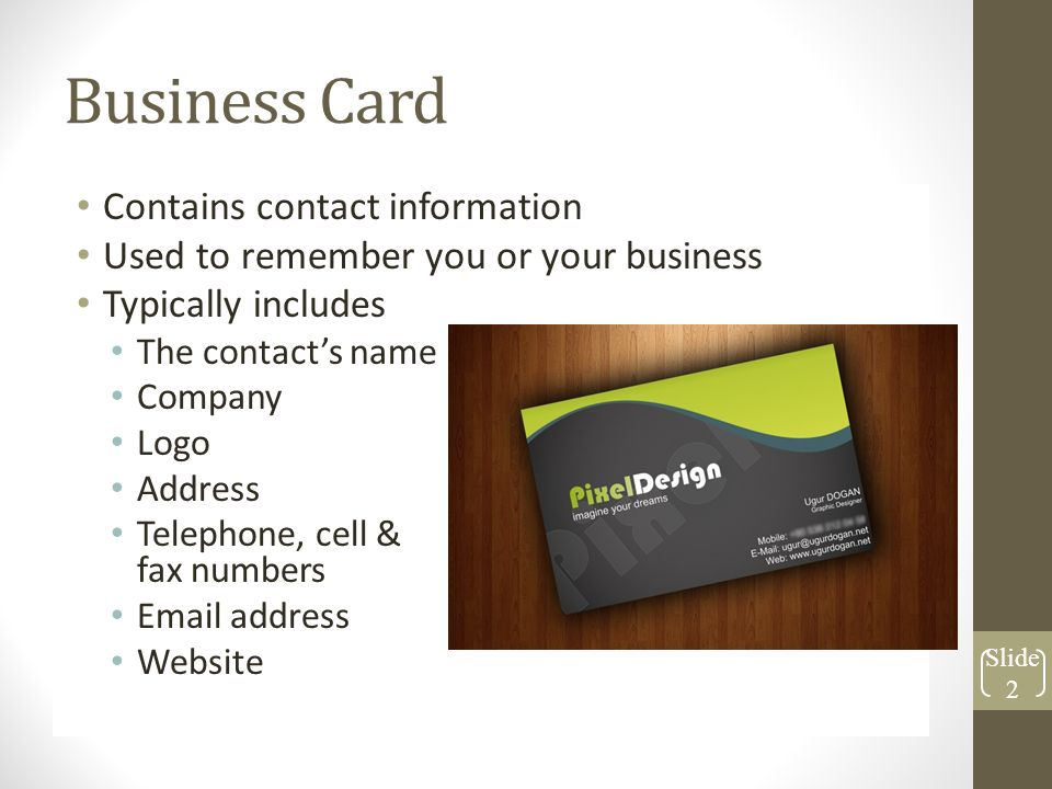 objective 1 02 graphic design layouts business card contains