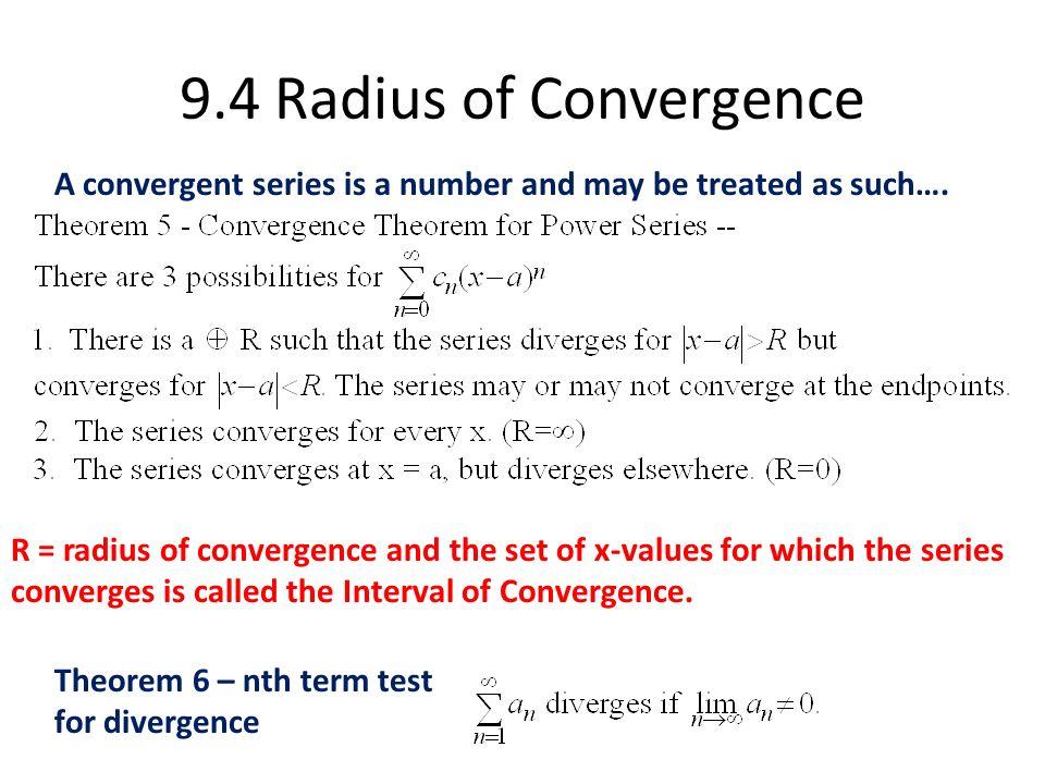 Chapter 9 AP Calculus BC  9 1 Power Series Infinite Series