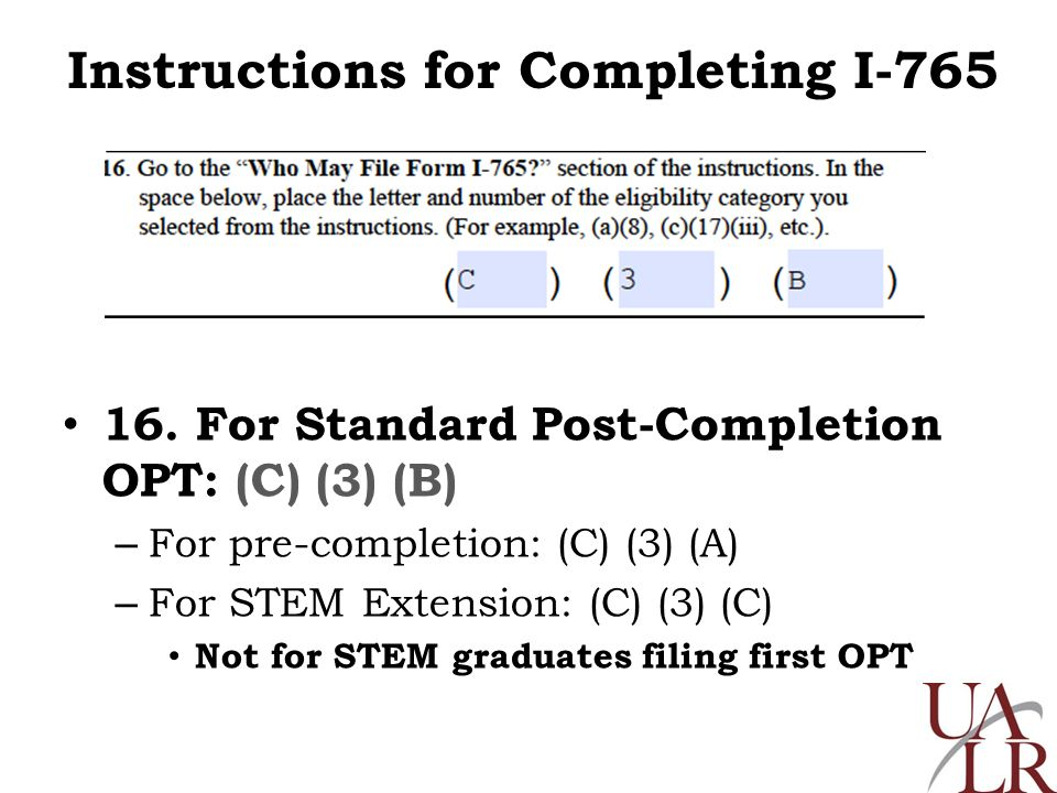 Instructions For I 765 And G 1145 For Standard Opt For More Opt