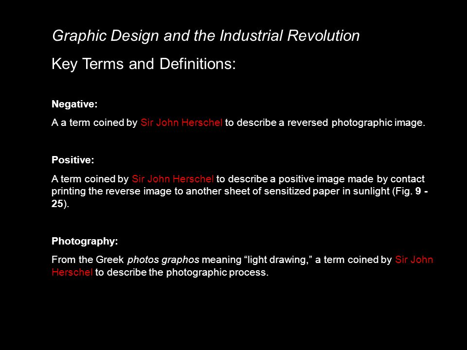 9-19  Photo Definitions Graphic Design and the Industrial