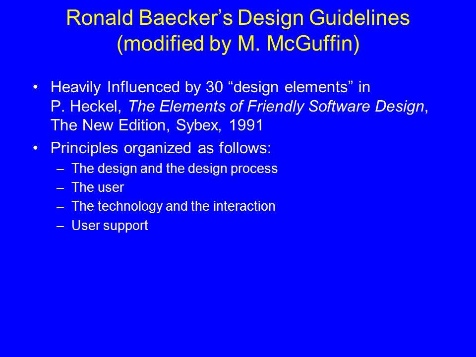 Directives De Conception Design Guidelines Design Principles Des Enonces Qui Donne Des Conseils Sur Comment Proceder Des Regles Exemples Hansen Ppt Download