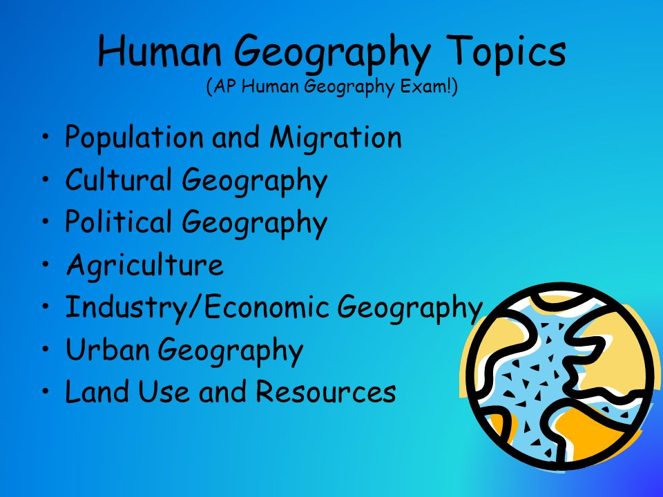 topics related to geography
