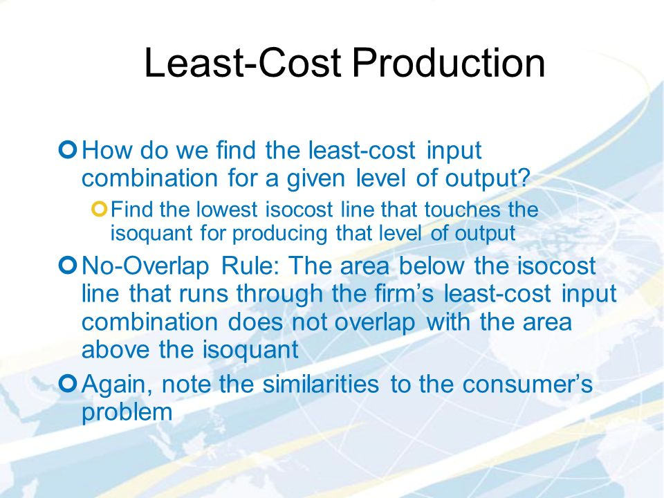 least cost combination notes