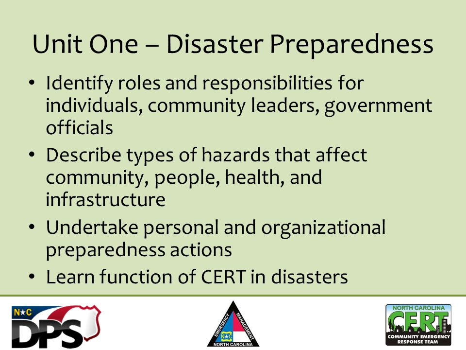 Promoting CERT to First Responders Samantha Royster NC CERT