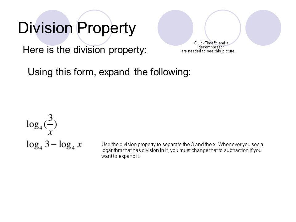 8d Properties Of Logarithms Product Property Here Is The Product