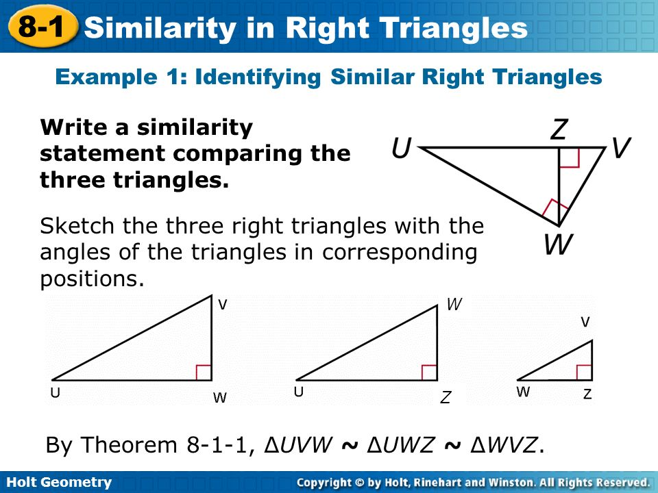 lesson 8-1 similarity in right triangles problem solving