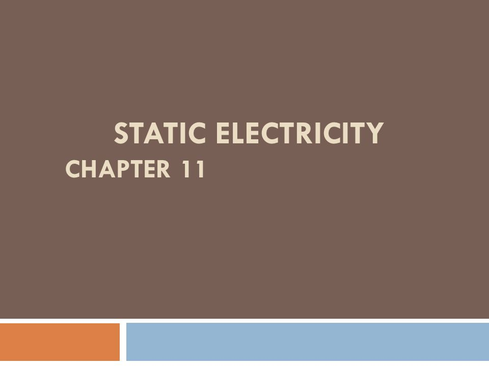 what is the study of static electricity called