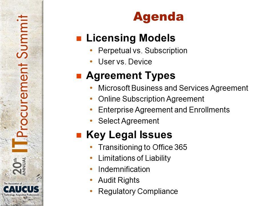 Robert J Scott Agenda Licensing Models Perpetual Vs Subscription