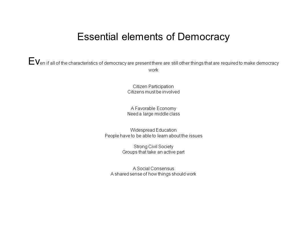 essential elements of democracy