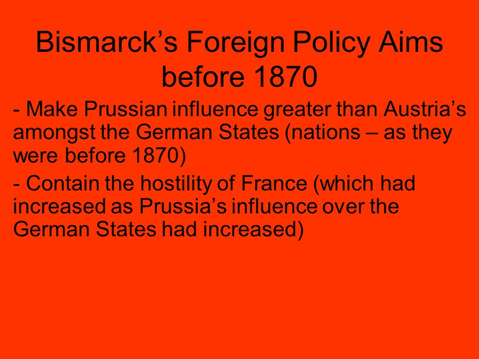 german foreign policy 1871 to 1914