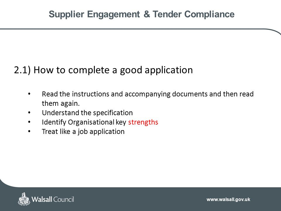 Supplier Engagement & Tender Compliance  Procurement