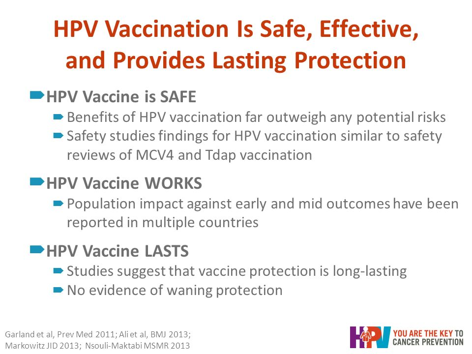 hpv vaccine cancer prevention evidence