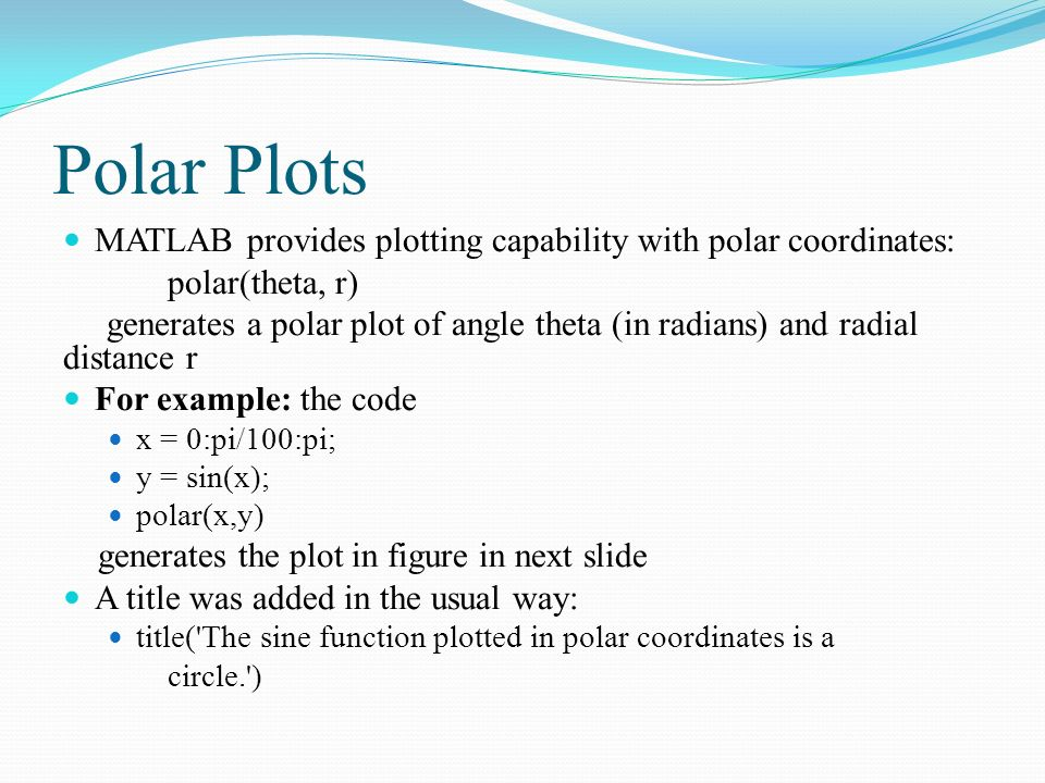 "Recap Chapter 5 ""Plotting"" Two Dimensional Plots Simple x-y"