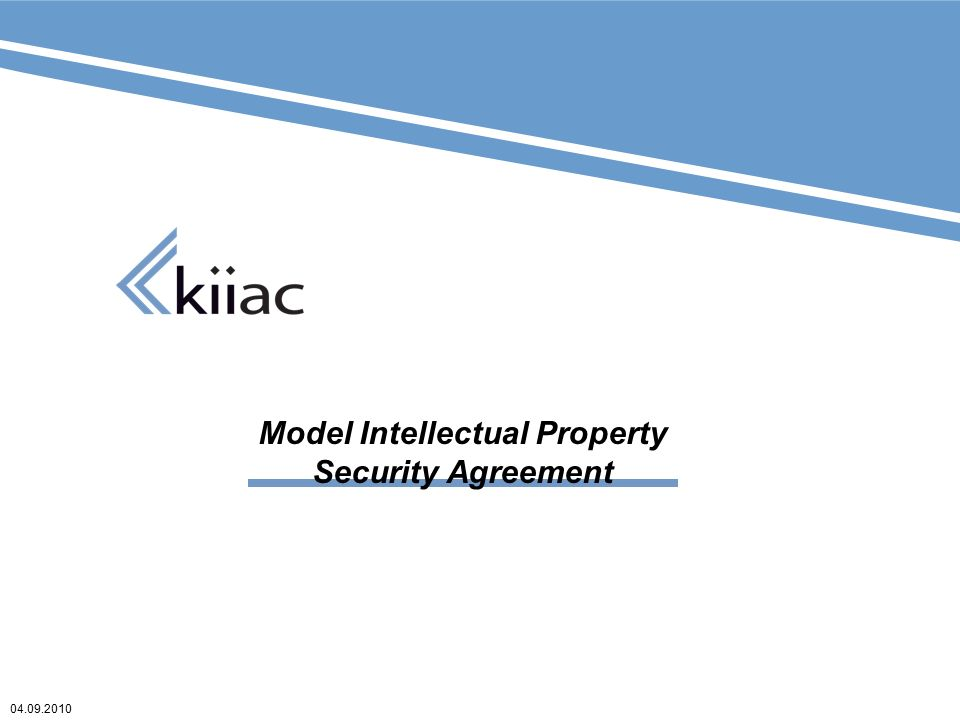 Model Intellectual Property Security Agreement Ppt Download