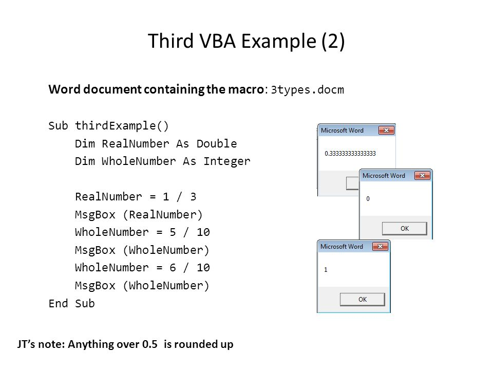 Introduction to VBA (Visual Basic For Applications) Programming