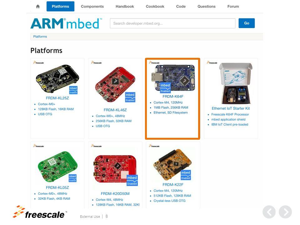External Use TM Hands-On Workshop: ARM mbed™ FTF-DES-F1302