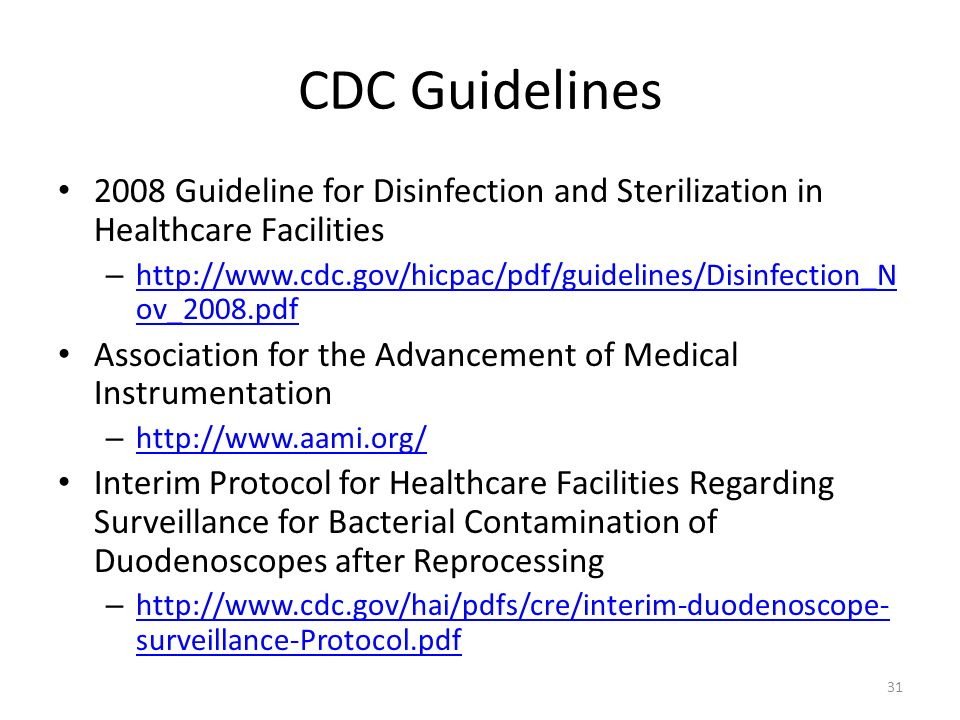 Disinfection and Sterilization in the Healthcare Environment Richard