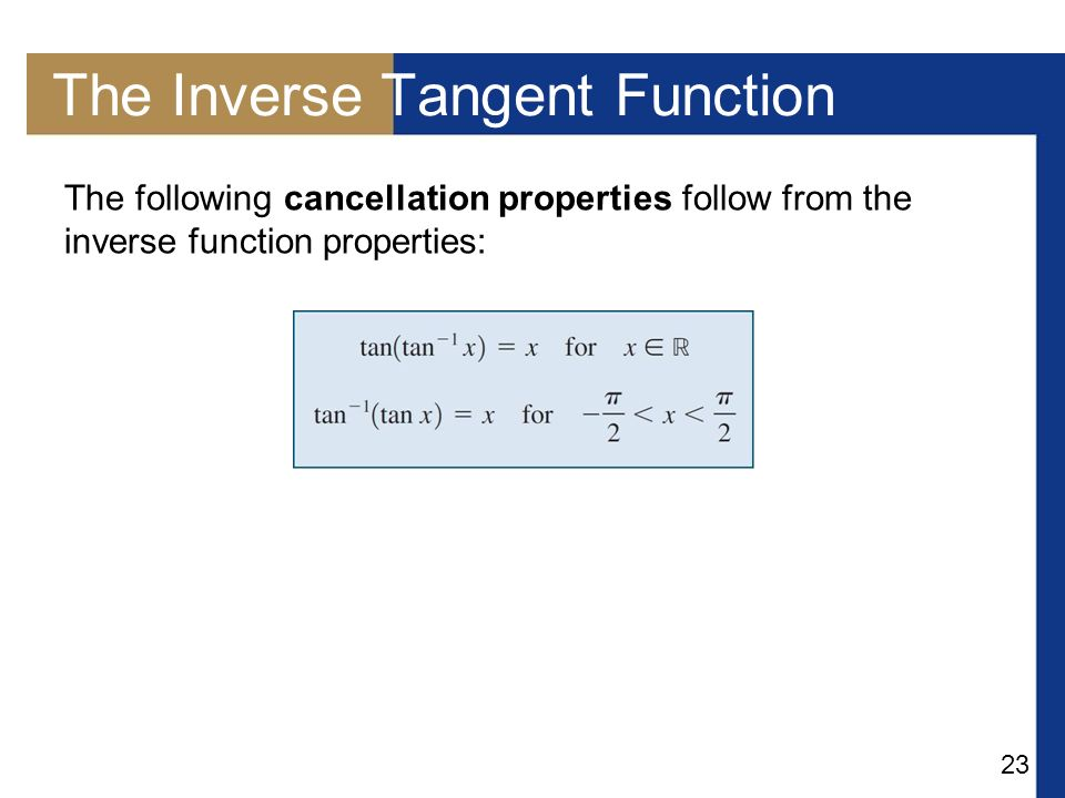 Day 1 Inverse Trigonometric Functions