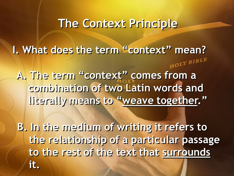 Context principle