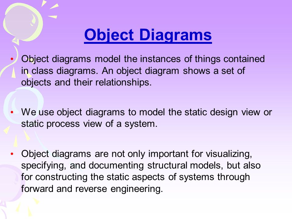 Ch- 8  Class Diagrams Class diagrams are the most common diagram