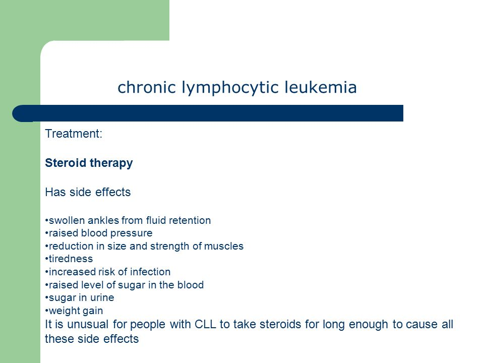 Chronic lymphocytic leukemia What is C L L  ? a chronic disease one