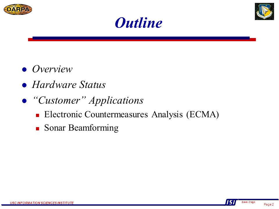 SLAAC Systems Level Applications of Adaptive Computing