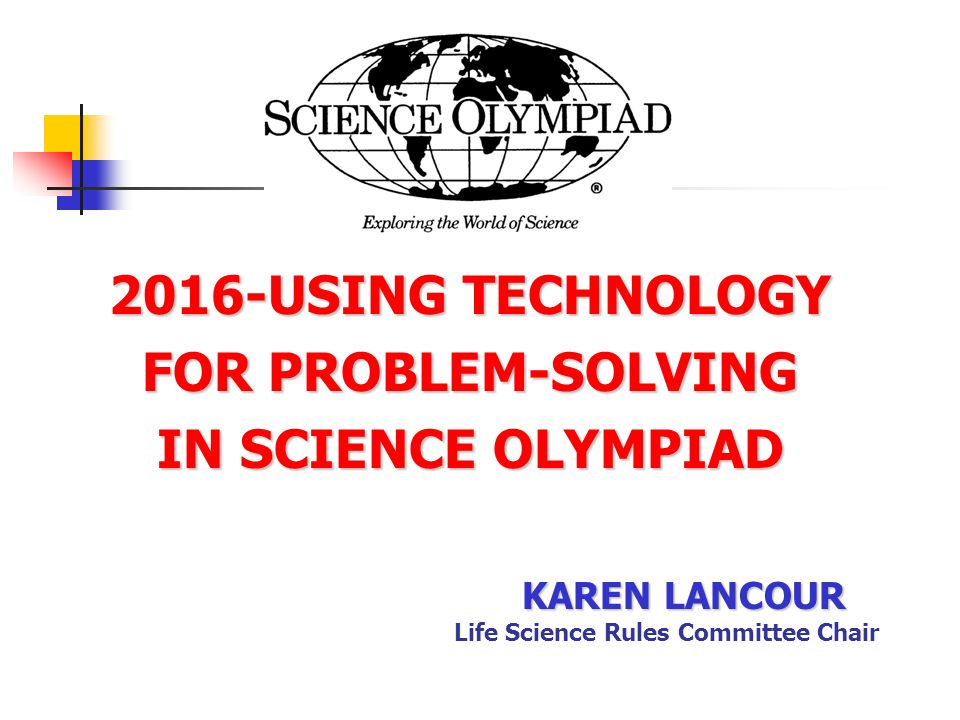 technical problem solving science olympiad