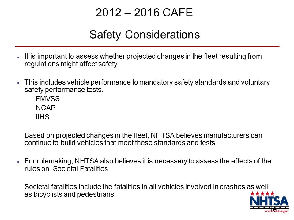 an overview of the national highway traffic safety administration regulations The national highway traffic safety administration (nhtsa, pronounced nits-uh) is an agency of the executive branch of the us government, part of the department of transportation it describes its mission as save lives, prevent injuries, reduce vehicle-related crashes.
