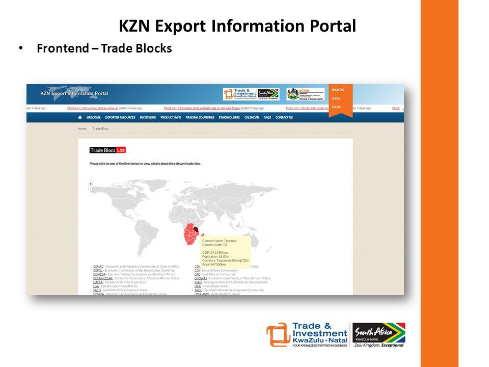 KwaZulu-Natal Export Information Portal - ppt download