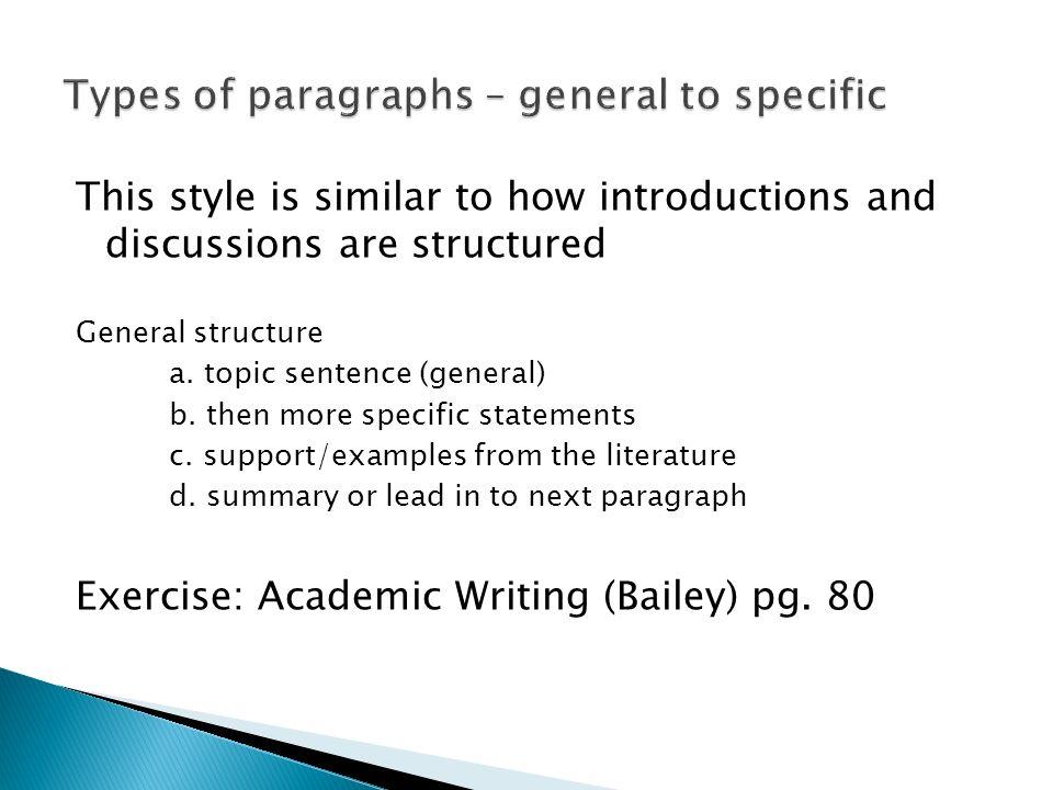 general sentence example