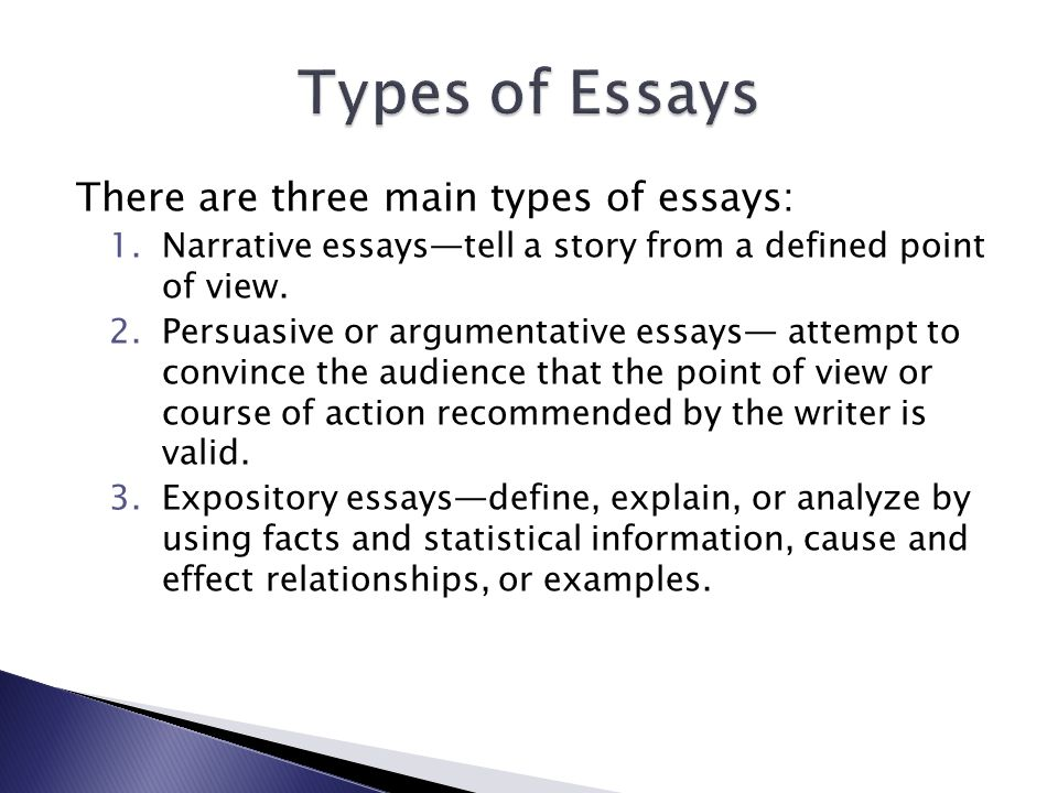 Descriptive Essay Topics For College Students  Bermuda Triangle Essay also Wwi Essay Three Types Of English Essays  Mistyhamel Purchase Essays