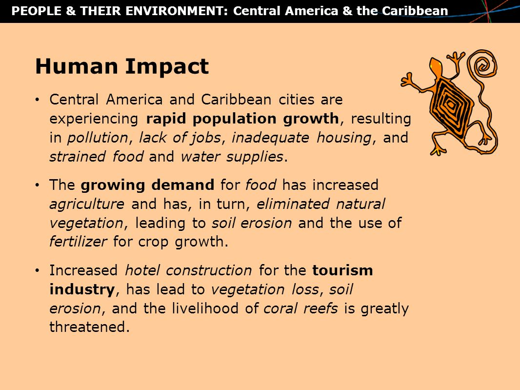people their environment central america the caribbean human impact central america and caribbean