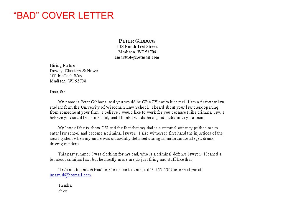 EFFECTIVE RESUMES AND COVER LETTERS University of Wisconsin Law ...