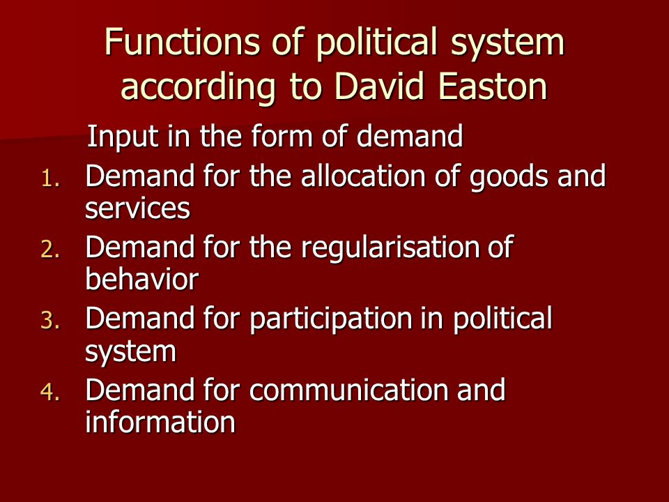 definition of political system by david easton
