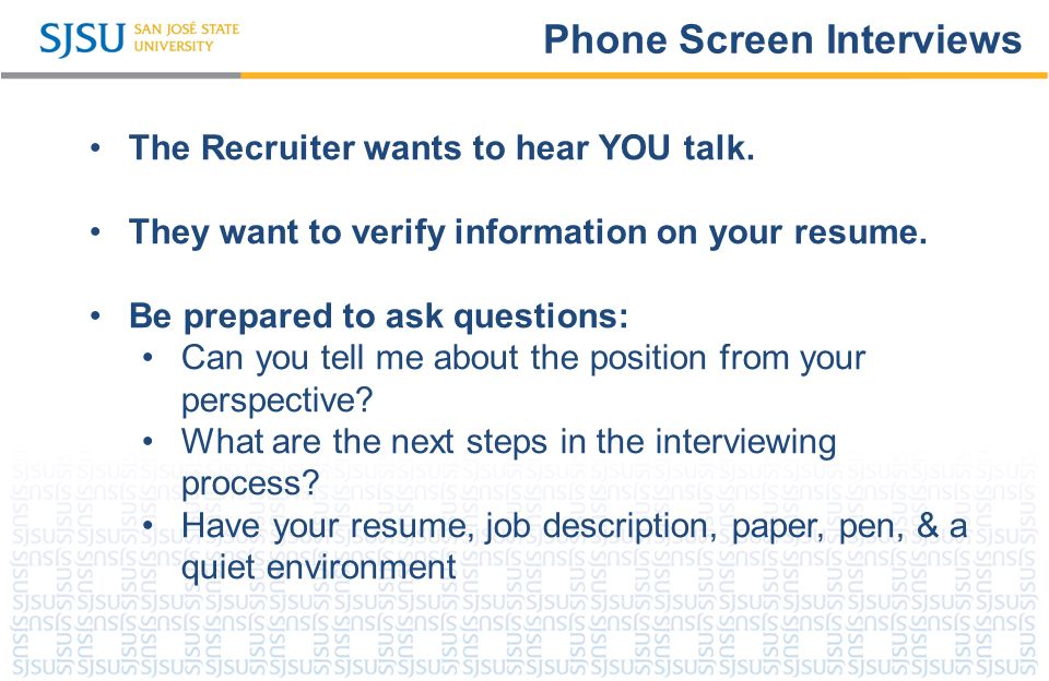Rock Your Interview! SJSU Career Center. SJSU Washington Square What ...