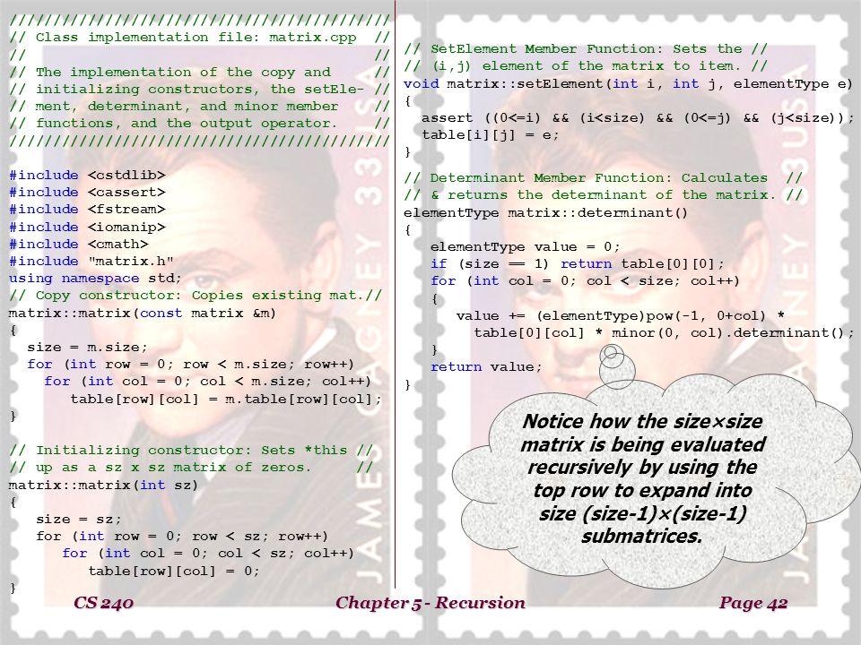CS 240Chapter 5 - RecursionPage 37 Chapter 5 Recursion Recursion can
