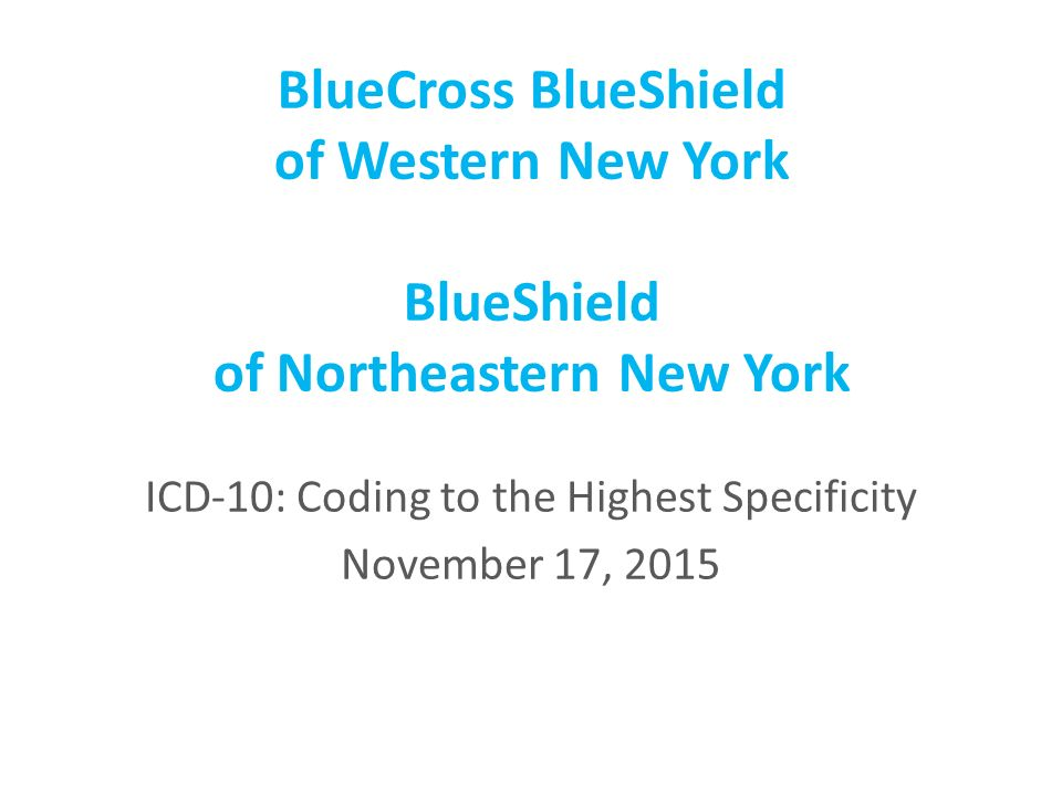 Bluecross Blueshield Of Western New York Blueshield Of Northeastern