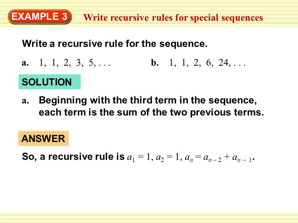 recursive formula video